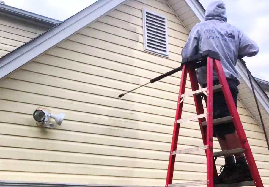 how to remove hard water stains from vinyl siding