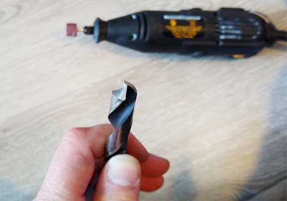 how to sharpen a drill bit with a dremel